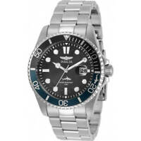 Invicta Men's Watch Pro Diver Quartz Black Dial Silver Tone Bracelet 30956