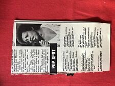 m2b ephemera 1973 article johnny nash there are more questions than answers