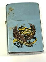 "Vintage Harley Davidson ""LIVE TO RIDE - RIDE TO LIVE"" Zippo Lighter"