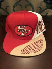 Vintage San Francisco 49ers Snapback Red/White 1990s Wave Cap Hat NFL Football