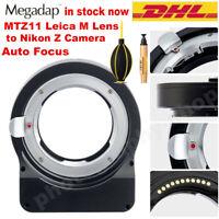 Megadap MTZ11 Auto Focus Lens Adapter to Leica M to Nikon Z5 Z6 Z7 Z6II Z50 Z7II