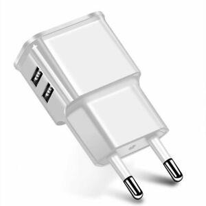 2x USB Ladegerät Adapter Netzteil Netzstecker für Original Samsung Apple iPhone