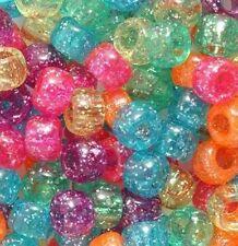 Pony Beads Glitter Neon Mix (50)