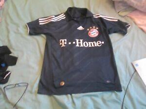 bayern munich small navy adidas football shirt