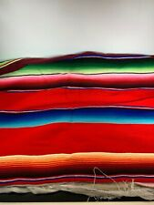 Southwestern design  throw blanket 60 x 86 Striped Bright Colors Fringed