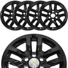 "4 New 2019-20 SILVERADO 1500 18"" Black Wheel Skins Hub Caps Aluminum Rim Covers"