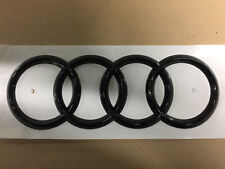 """Original Audi Emblem """"Ringe"""" schwarz glänzend Schriftzug fürs Heck Ringe schwarz"""