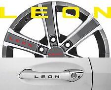 4 x Türgriff- Felgen Aufkleber Seat Leon 001 #1404