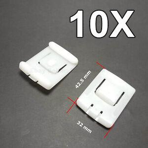 10X Seat Fastener Rail Runner Clips Sliders Guide for AUDi SEAT VOLKSWAGEN