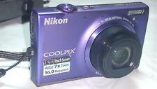 Nikon COOLPIX S6100 16.0MP Digital Camera - Violet Purple