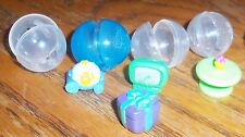 Squinkies Squishy Carriage Gift TV Bed Table Lot of 5 + 4 bubbles