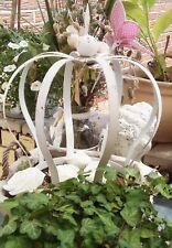 CORONA metallo bianco decorazione giardino shabby vintage stile nostalgico