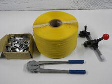 Pallet carton strapping banding packing kit 15mm 1000m band tensioner crimp tool