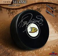 TEEMU SELANNE Anaheim Ducks Autographed Puck