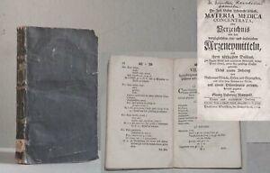 LÖSECKE Arzneymittel Gifte Gegengifte 1764 Medizin Pharmazie