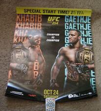 "UFC 254 Official 22"" x 28"" Fight Poster Champ Khabib Vs Champ Gaethje Lot of (5)"