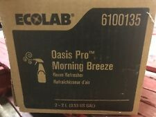 (Case of Two) Ecolab 6100135 Oasis Pro Moning Breeze Room Refresher 2L each