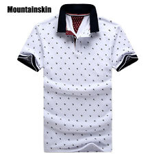 New Brand Polos Mens Printed POLO Shirts 100% Cotton Short Sleeve Camisas Polo