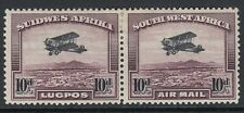 South West Africa 1931 10d Black & Purple-Brown Air Stamp SG 87 Mounted mint