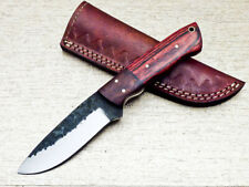 Elegant Custom hand Forged Railroad Spike Carbon Steel Fixed Blade Knife UT-2538