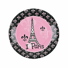 Perfectly Paris Paper Dinner Plates - 8 Ct. - Party Supplies - 8 Pieces