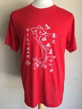 VIETNAM Official (MADE IN VIETNAM) Red Communist Map Tourist T-Shirt Size Large