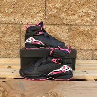 AIR Jordan 8 Retro Pinksicle (GS) KID'S BLACK/PINK BASKETBALL SNEAKER 580528-006