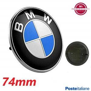 STEMMA BMW SERIE 1 3 5 6 LOGO FREGIO EMBLEMA COFANO BAGAGLIAIO POSTERIORE 74MM