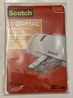 "Scotch Thermal Laminator Pouches 20/Pkg 4""x6"" New"