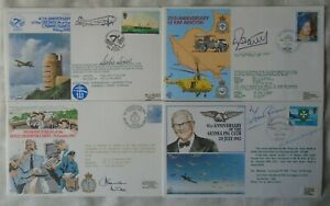 GB RAF Aviation 4 flown & signed covers Limited Editions 1980-85 Guinea Pig Club