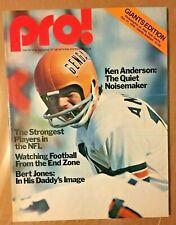 1976 PRO MAGAZINE NEW YORK GIANTS VS PHILADELPHIA EAGLES PROGRAM NFL 10/31/76