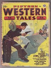Fifteen Western Tales Feb 1948 Pulp Talmage Powell Joe Archibald Raymond Spears