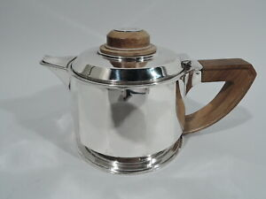 Antique Teapot - Art Deco Modern - French 950 Silver - Jean Emile Puiforcat