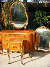 Antique French VICTORIAN Satin Wood inlaid  Bedroom 5pc set