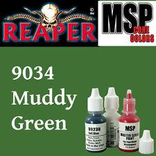 MUDDY OLIVE 9034-MSP core15ml 1/2oz paint pot peinture figurine REAPER MINIATURE