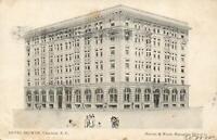 1907 VINTAGE HOTEL SELWYN, CHARLOTTE NC POSTCARD - USED - 1c US Stamp