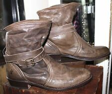 Frye Brown Distressed Leather Ankle Boots Women 8