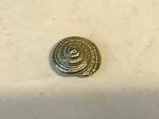 Sea Shell TG129 Made from Solid Fine English Pewter Pin Lapel badge