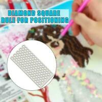 Stainless Steel 5D DIY Square Dot Drill Ruler Diamond Painting Stitch Cross Q6R7