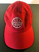 Indiana Basketball Hat 100% Cotton Red IU Hoops Cap Adjustable Clasp