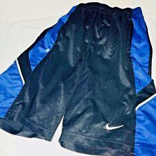 b9ab2b8ad5e Vintage Nike Hoops Basketball Long Shorts Dazzle Soft Shiny Black Blue Small