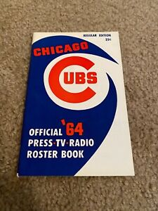 1964 Chicago Cubs Official Roster Book
