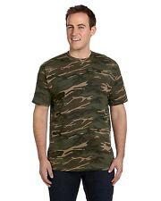 CAMOUFLAGE Tshirt ARMY Military 100% Ring Spun Cotton hunting FORESTAnvilGildan
