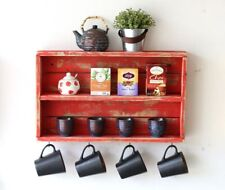Red Double Wall Shelf
