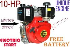 Engine Diesel 10-hp, Electric start & Battery = OIL FILLED AIR FILTER=CLEAN AIR*