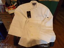chef coat, by Cheftex, size small, white, double breasted chef shirt