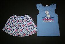 New Gymboree Princess Kitty Tee Top Floral Medallian Skirt Set 2T Desert Dreams