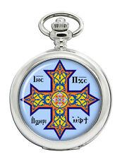 Coptic Cross Christian Pocket Watch