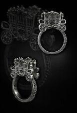 Anillo Restyle 3D Carruaje Cenicienta Victoriano Gótico Lolita Steampunk cuento de hadas