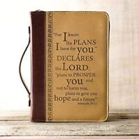 I Know the Plans Two-tone Bible / Book Cover - Jeremiah 29:11  Fast Shipping